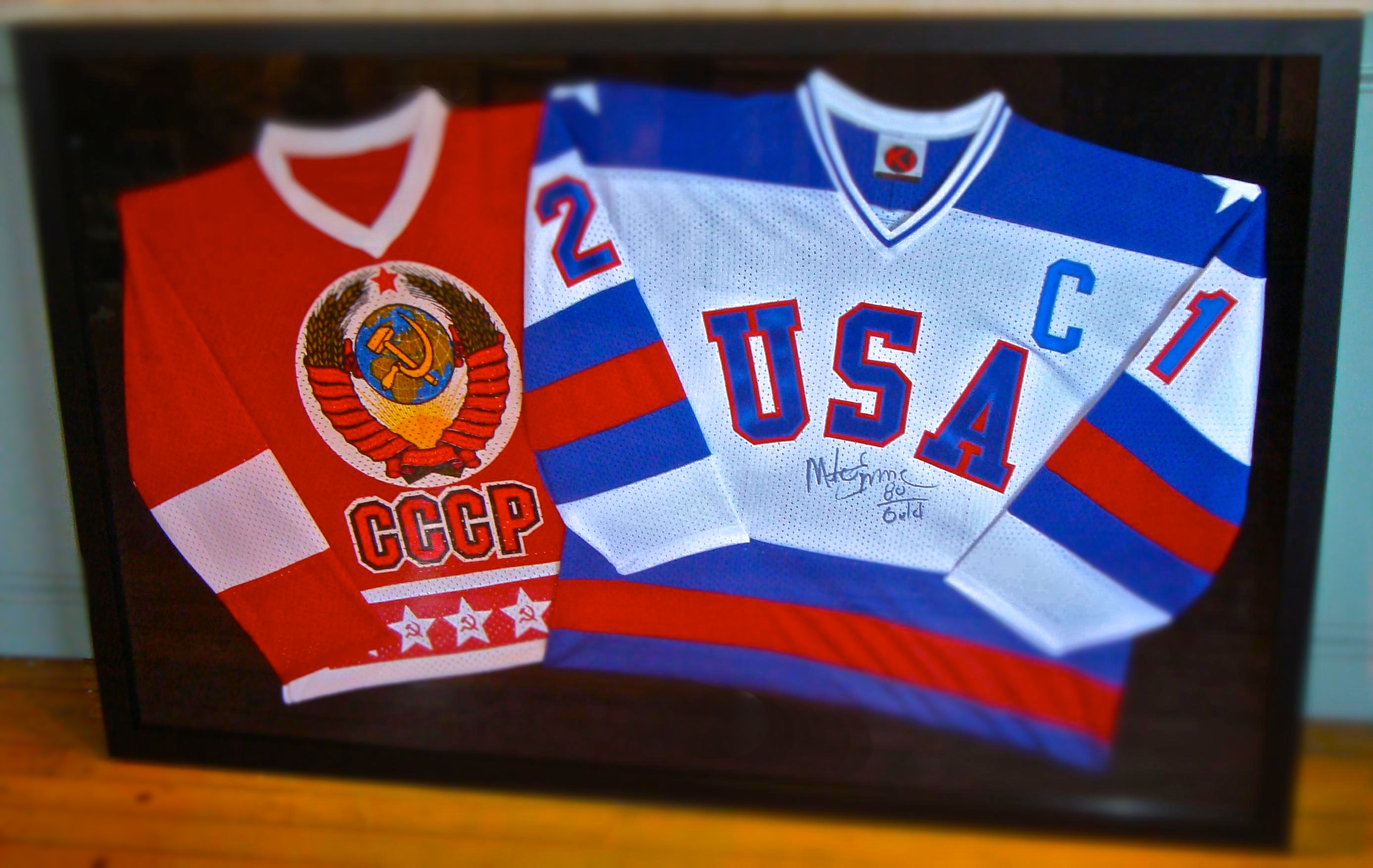 Farmington frame home these jerseys are framed in one large frame jeuxipadfo Gallery